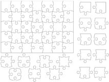 Jigsaw puzzle template. All pieces are individual and can easily be rearranged Royalty Free Stock Image