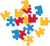 Jigsaw puzzle vector. Jigsaw puzzle pieces coloured vector vector illustration