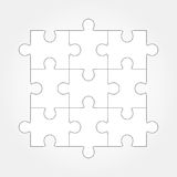 Jigsaw puzzle vector, nine pieces Stock Photography