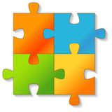 Jigsaw Puzzle. Vector. Royalty Free Stock Image
