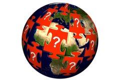 jigsaw puzzle świat Royalty Ilustracja
