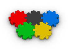 Jigsaw puzzles olympic rings Stock Photography
