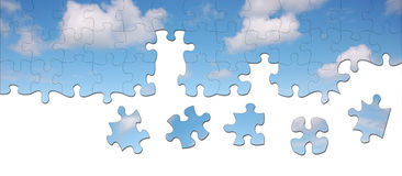 Jigsaw sky Royalty Free Stock Photography