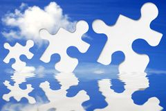 Jigsaw Sky Stock Photography