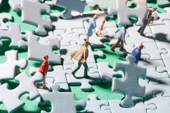Jigsaw storm Stock Photos