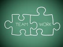 Jigsaw teamwork Royalty Free Stock Image