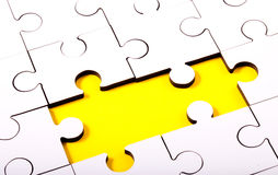 Jigsaw With Two Pieces Missing Royalty Free Stock Images