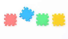 Jigsaw on white,Puzzle. Stock Image