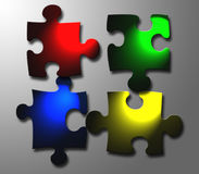 Jigsaw windows. Jigsaw pieces with windows colouring Stock Photo