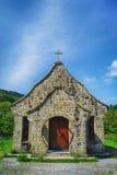 Jiguopai老教会& x28; 风琴church& x29;在复兴区,桃园,台湾 免版税图库摄影