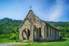 Jiguopai Old Church & x28;TUBA church& x29; in Fuxing District, Taoyuan, Taiwan. Royalty Free Stock Photography