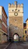Jihlava bramy republika czech, Jihlava, fortyfikacyjna brama fotografia royalty free
