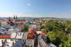 Jihlava panorama Stock Photo
