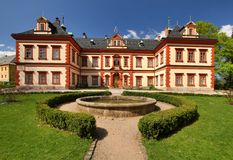 Jilemnice castle in Czech republic. Beautiful Jilemnice castle in Czech republic Royalty Free Stock Photography