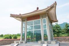 JILIN, CHINA - Jul 27 2015: Gwanggaeto Stele(King Haotai Stele) Royalty Free Stock Photo