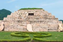 JILIN, CHINA - Jul 27 2015: Mausoleum of King Jangsu (Tomb of th Stock Image