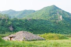 JILIN, CHINA - Jul 27 2015: Noblemen's Cemetery at Shanchengxia Royalty Free Stock Photo
