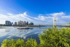 Jilin city building. Eastphoto, tukuchina, Jilin city building, Transportation, Bridge Stock Photography