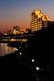 Jilin le fleuve Songhua la nuit Photo stock