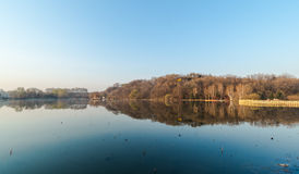 Jilin moon lake scenery Stock Image