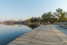 Jilin moon lake scenery Stock Photo