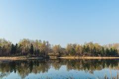 Jilin moon lake scenery Royalty Free Stock Photo