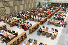 Jilin Province library. With overlooking the entire four floors Stock Photos