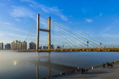 Jilin river and bridge Royalty Free Stock Photos