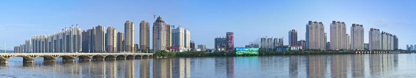 Jilin Songhua cityscapes. Eastphoto, tukuchina, Jilin Songhua cityscapes, City, scenery Stock Photo