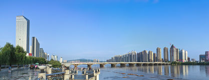 Jilin Songhua cityscapes. Eastphoto, tukuchina, Jilin Songhua cityscapes, City, scenery Stock Photos