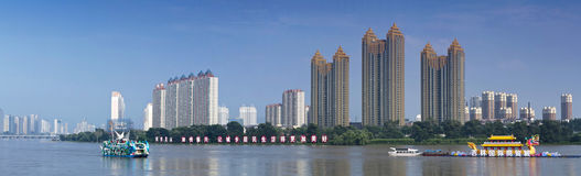 Jilin Songhua River Bund. A, Jilin Songhua River Bund, City, scenery Stock Photos