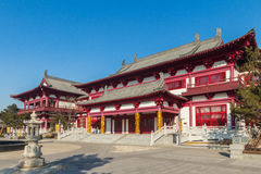 Jilin wanshou temple buildings. Located in changchun city of jilin province China bayhood tourism scenic spot of Beijing art museum, there have been 200 years of Royalty Free Stock Photo