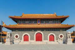 Jilin wanshou temple buildings. Located in changchun city of jilin province China bayhood tourism scenic spot of Beijing art museum, there have been 200 years of Stock Image