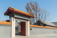 Jilin wanshou temple buildings. Located in changchun city of jilin province China bayhood tourism scenic spot of Beijing art museum, there have been 200 years of Stock Photo
