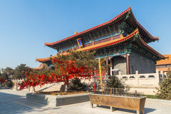 Jilin wanshou temple buildings. Located in changchun city of jilin province China bayhood tourism scenic spot of Beijing art museum, there have been 200 years of Royalty Free Stock Image