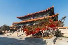 Jilin wanshou temple buildings Royalty Free Stock Image