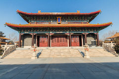Jilin wanshou temple buildings. Located in changchun city of jilin province China bayhood tourism scenic spot of Beijing art museum, there have been 200 years of Royalty Free Stock Photography