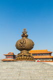 Jilin wanshou temple incense burner. Wanshou temple in changchun, jilin on China's huge incense burner, the scale of the incense burner is very rare, fine Royalty Free Stock Photo