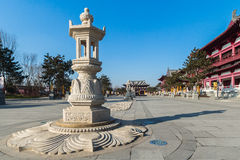 Jilin wanshou temple stone lantern Stock Photography