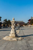 Jilin wanshou temple stone lantern Royalty Free Stock Photography