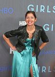 """Jill Hennessey. Actress Jill Hennessey strikes a pose on the red carpet for the premiere of the new season of HBO's hit and hip comedy tv series, """"Girls,"""" at the Stock Images"""