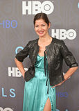 """Jill Hennessey. Actress Jill Hennessey strikes a pose on the red carpet for the premiere of the new season of HBO's hit and hip comedy tv series, """"Girls,"""" at the Stock Photography"""