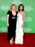 Jillian Bell and Olivia Munn. At the Los Angeles premiere of `Office Christmas Party` held at the Regency Village Theatre in Westwood, USA on December 7, 2016 Royalty Free Stock Photo