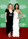 Jillian Bell and Olivia Munn. At the Los Angeles premiere of `Office Christmas Party` held at the Regency Village Theatre in Westwood, USA on December 7, 2016 Stock Photos