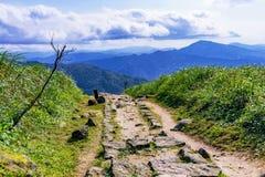 Jilong mountain in Jiufen Stock Photos