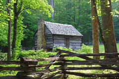 Jim Bales Place. Early Morning at Jim Bales Place, Great Smokey Mountains National Park Royalty Free Stock Photo