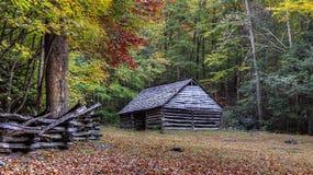 Jim Bales Place Barn Along-de Motorsleep van de Gebrulvork royalty-vrije stock afbeeldingen