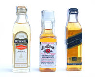 Jim beam, bushmills, johnnie walker Royalty Free Stock Image