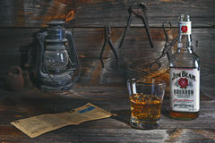 Jim Beam in old workshop Royalty Free Stock Images