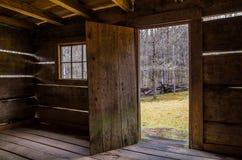 Jim Beluje kabinę, Ryczy rozwidlenie motorowego ślad, Great Smoky Mountains Fotografia Stock